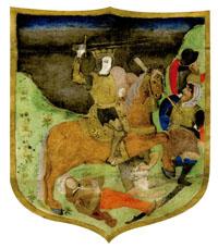 Escudo tapiz de la toma del Arrabal de Vélez Málaga