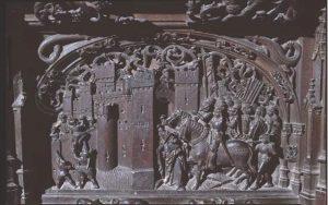 Conquista de la ciudad de Vélez-Málaga. Sillería del coro de la Catedral de Toledo (Rodrigo Alemán)